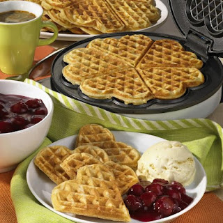 Waffles with Cherry Compote.