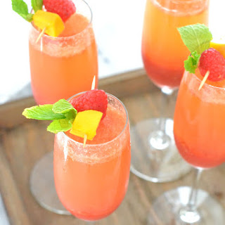 Raspberry Mango Bellini Recipe