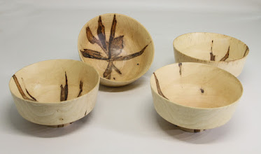 "Photo: Steve Haddix 2 1/2"" x 5"" 4 bowl snack set [ambrosia maple]"