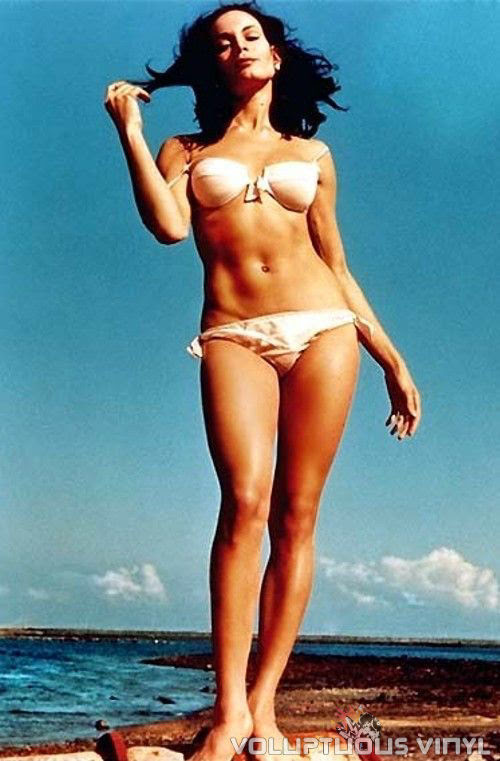 Martine Beswick in a White Bikini