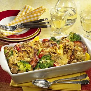 Pork Chop and Vegetable Gratin