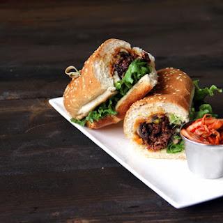 Korean Cheesesteak Sandwich