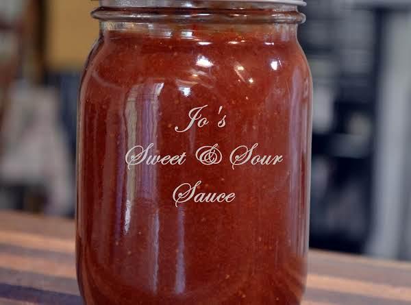 Jo's Strawberry Sweet & Sour Sauce