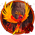 3d Fire phoenix theme icon