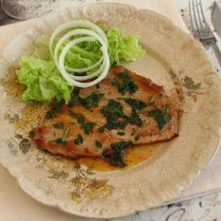 Pork Steaks With Special Sauce.