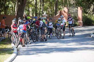 Photo: big turnout for the afternoon rides