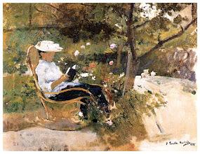 "Photo: Joaquín Sorolla, ""In giardino"" (1896)"