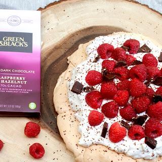 Raspberry Hazelnut Chocolate Pavlova.