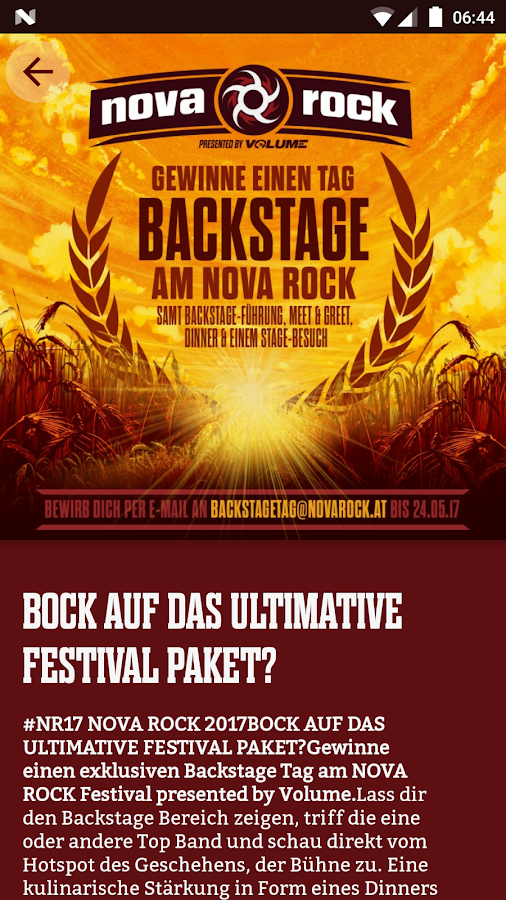 Nova Rock Festival 2017- screenshot