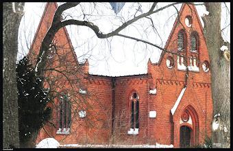 Photo: neogotische Backsteinkirche in Gorschendorf