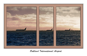 Photo: Oakland International Airport Planes queued up for takeoff  For #SunsetSaturday curated by +TJ Kelly