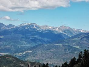Photo: il semble bien que nous voyons ici le Oic du Géant enneigé et la Hte vall del Ter
