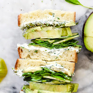 Green Goddess Cream Cheese Veggie Sandwich