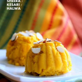 Mango Semolina Pudding Mango Sheera / Kesari / Halwa