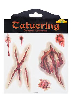 Tatuering, sår med rispor