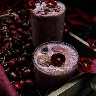 Chocolate Cherry Irish Cream Milk Shake.