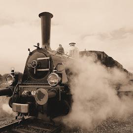 Old steamloc by Bob Has - Transportation Trains ( old, railroad, loc, train, steam )