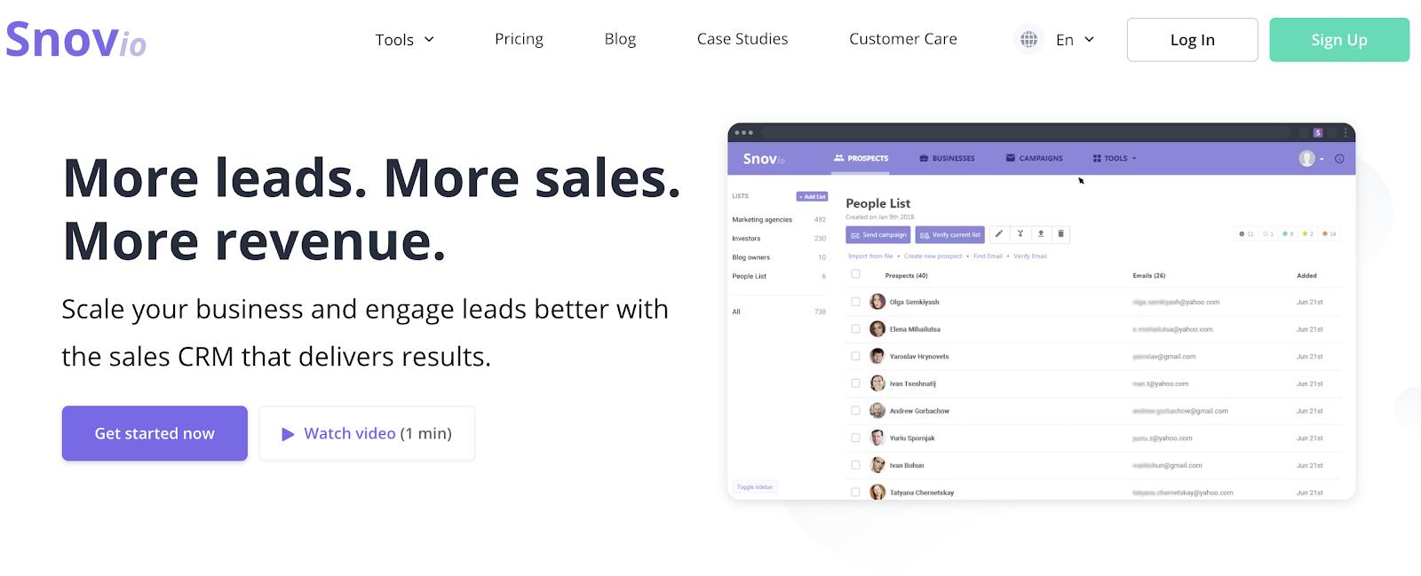 snov.io free link building tool