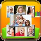 Molduras para fotos de família: colagem de fotos icon