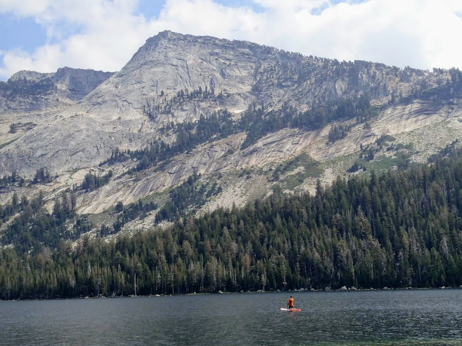 Paddleboarding in Tenaya Lake, Yosemite