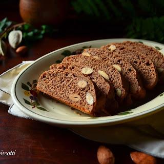 Simple Classic Italian Honey Almond Cocoa Biscotti Recipe