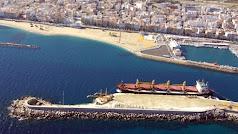 Puerto comerical de Garrucha, de gran importancia en Andalucía.