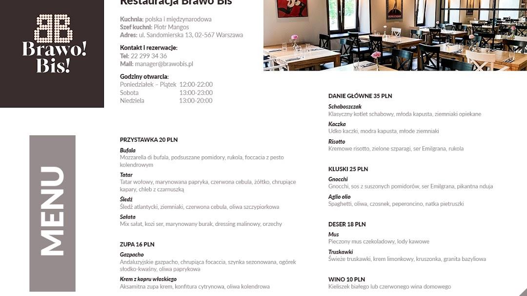 Brawo Bis Restauracja W Warszawa