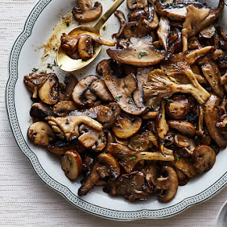 Mushrooms with Thyme Butter.