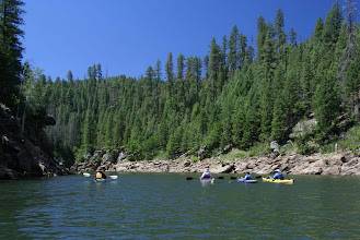 Photo: Boaters paddle to the monument on the north arm (aka, East Clear Creek).