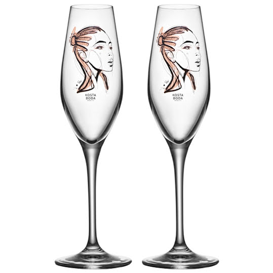Kosta Boda All About You Forever Yours Champagne 2-Pack 23cl