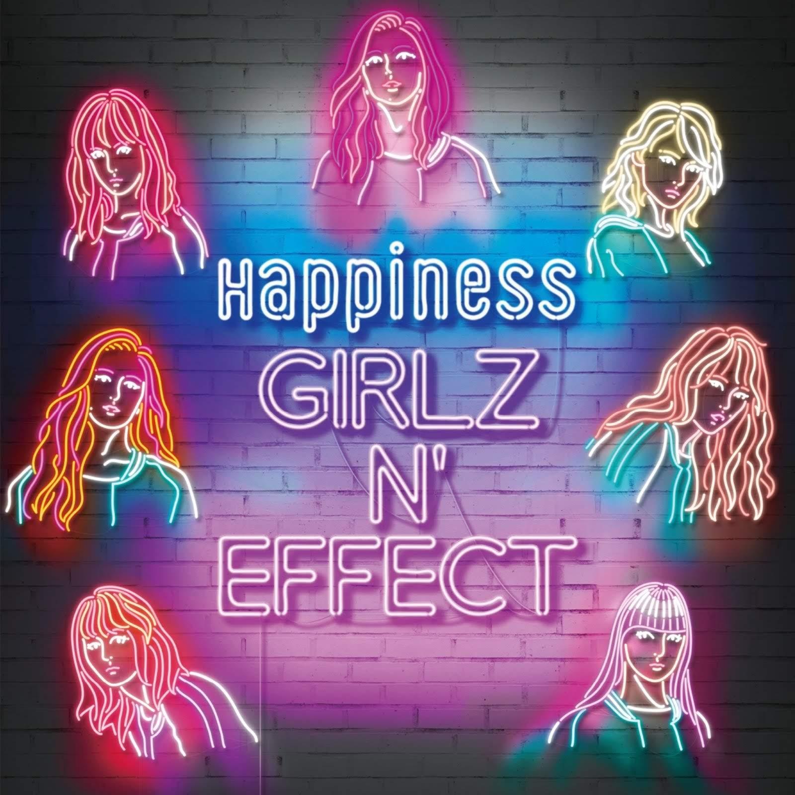 "Capa do álbum ""GIRLZ N' EFFECT"" – CD+DVD Edition & CD + Blu-ray Edition (Alternative Version)."