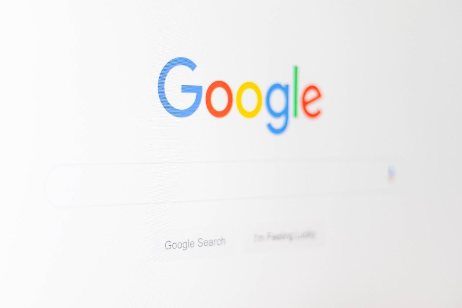 Google startpagina