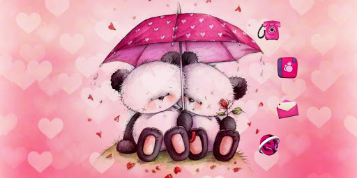Pink Love Bear Theme for Android apk 6