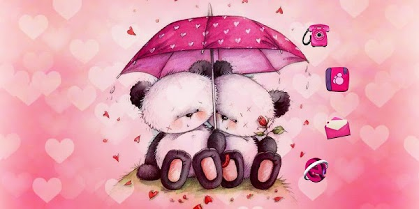 Pink Love Bear Theme screenshot 3