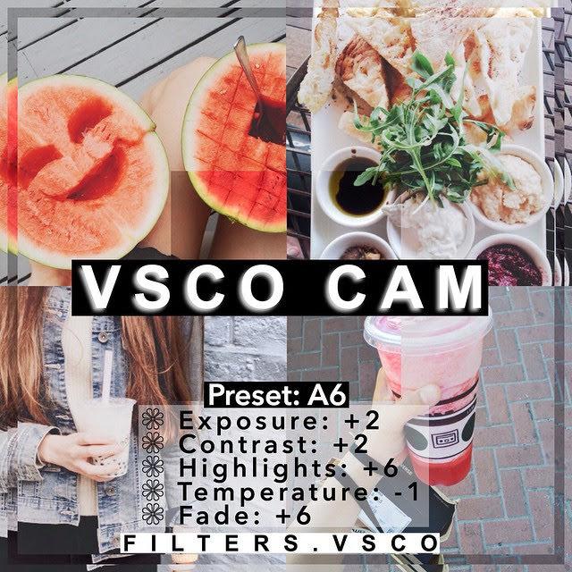 VSCO Filters for Food - VSCO Filter Hacks