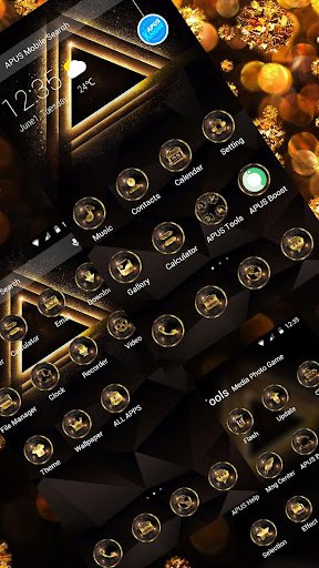 GoldenTriangle-APUS Launcher theme for Andriod - screenshot