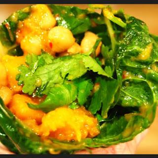 Vegan MoFo Thai Pumpkin & Chickpea Wraps