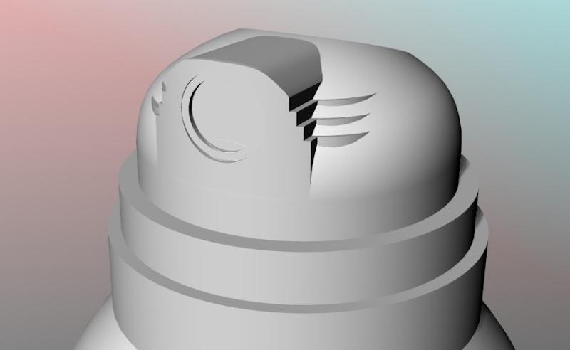 Blowup uitvergroting spuitbus fles - 3D model