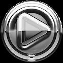 Poweramp skin Silver Glas luxe icon
