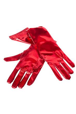 Handskar, metallic röd