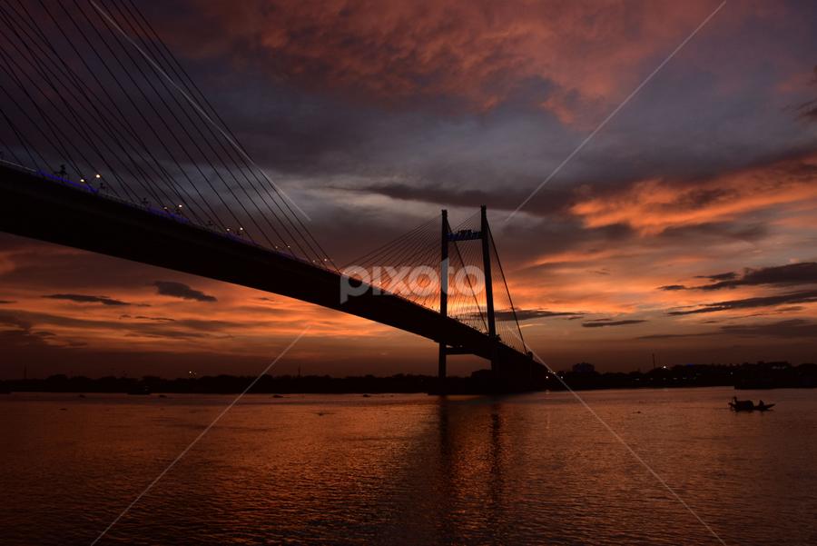 The 2nd Hooghly Bridge, Kolkata, India by Gautam Tarafder - Buildings & Architecture Bridges & Suspended Structures ( #kolkata, #vidyasagar_setu, #bridges, #ganges,  )