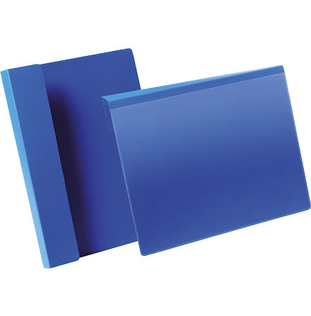 Pallficka A4L vikbar kant blå