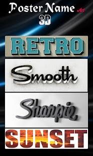 Poster Name Art 3D - náhled