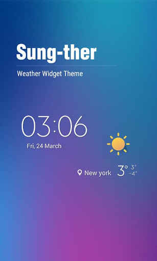 Minimal Theme Weather Widget