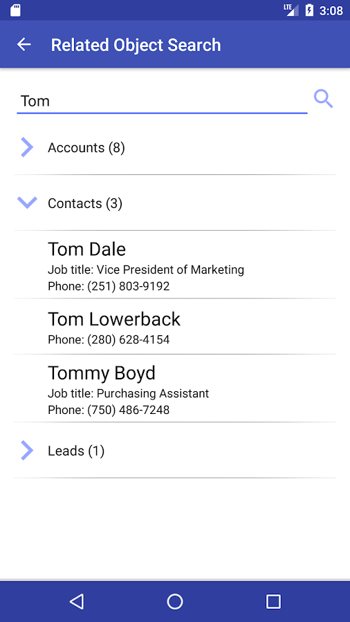 Akvelon CRM Call Tracker- screenshot