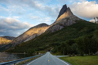 Photo: Stetind, with it's very characterstic shape, a landmark in Nordland, Norway. Also a popular hiking destination, although ascent to the top requires some climbing. In spite of it's very steep sides, the top is flat, with the size of a couple of football fields.After highway 827, with a tunnel straight through the mountain, was opened in 1992, Stetind has become a lot more accessible than before, with about an hour and 15 minutes drive from Narvik.