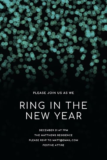 Ring In the New Year - New Year's template
