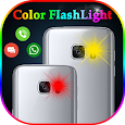 Color Flash Light alert on Call and SMS, Torch LED icon