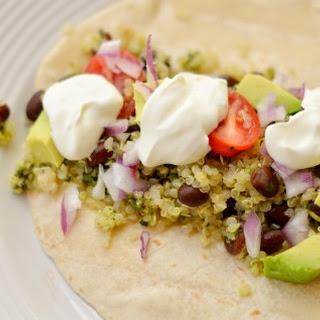 Quinoa-Black Bean Fajita Filling with Cilantro and Lime