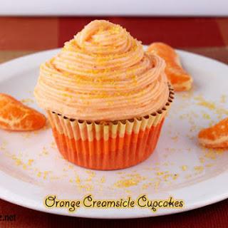 Orange Creamsicle Homemade Cupcakes